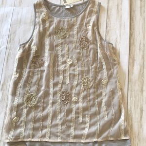 Anthropology NWT lacy embroidered tank NWT